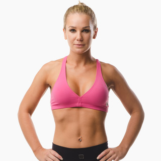 Abi Racer-back Sports Bra Top Hot Pink Front