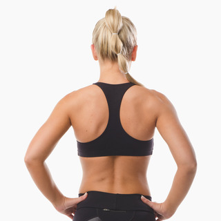Abi Racer-back Sports Bra Top Jet Black Back