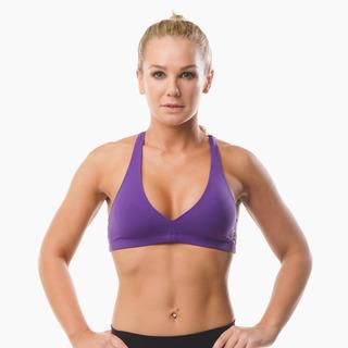 Abi Racer-back Sports Bra Top Purple Pout Front