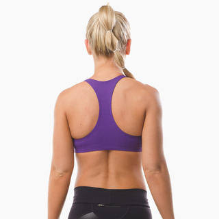 Abi Racer-back Sports Bra Top Purple Pout Back