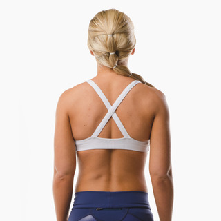 Emi Cross-back Sports Bra Top Arctic White Back