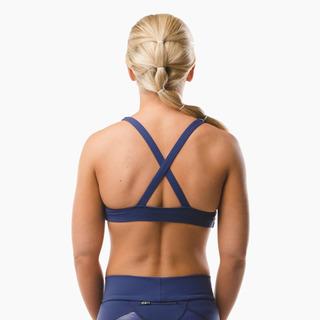 Emi Cross-back Sports Bra Top Midnight Blue Back