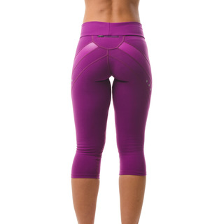 Zara Multi-functional 3/4 Capri Legging Deep Magenta Back