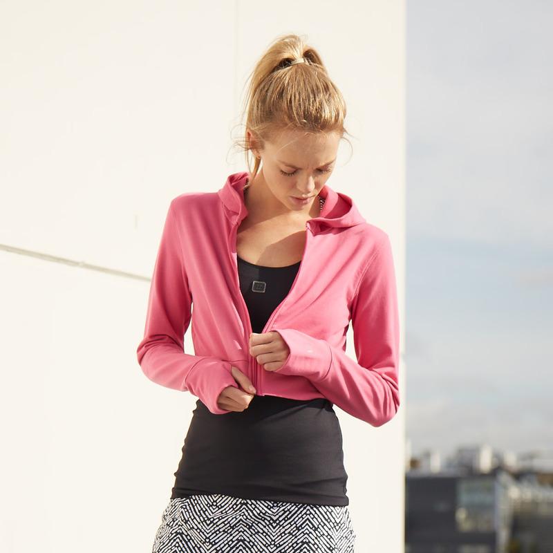 Amelia Crop Hoodie Hot Pink