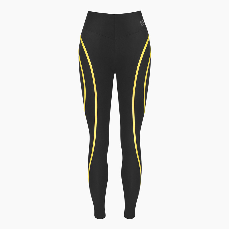 Eve Yellow Jet Black Legging