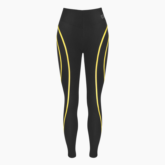 Eve Yellow Jet Black Legging
