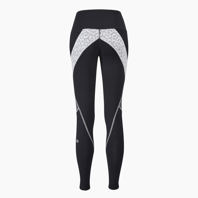 Erica Full Length Legging Jet Black Grey Print