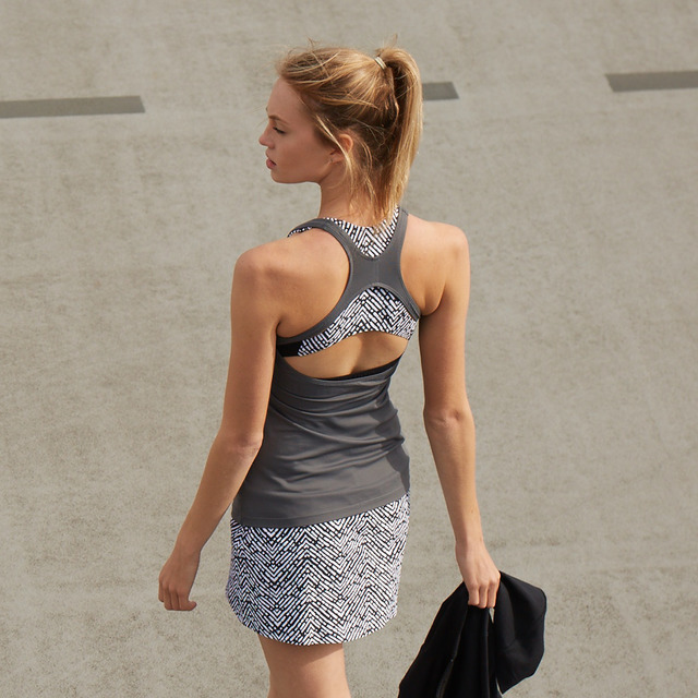 Ella Storm Grey Open-back Vest