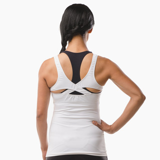 Erin Performance Vest Top Arctic White Back