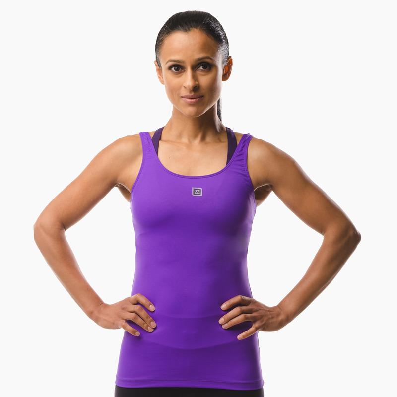Erin Performance Vest Top Purple Pout Front
