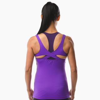 Erin Performance Vest Top Purple Pout Back