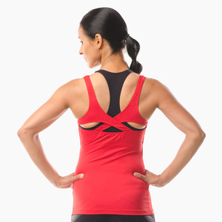 Erin Performance Vest Top Extreme Red Back