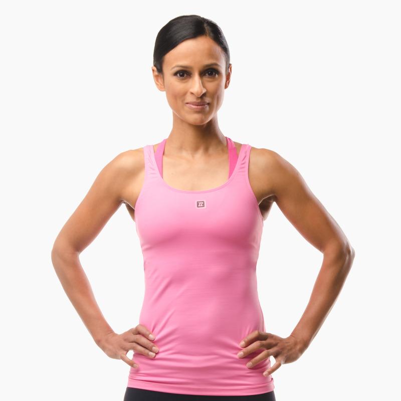 Erin Performance Vest Top Hot Pink Front