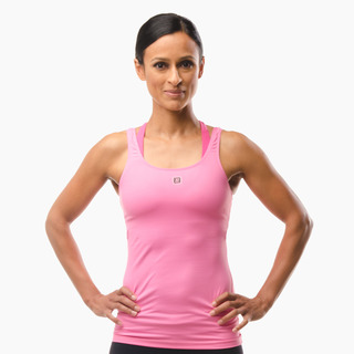 Erin Performance Vest Top Hot Pink Front