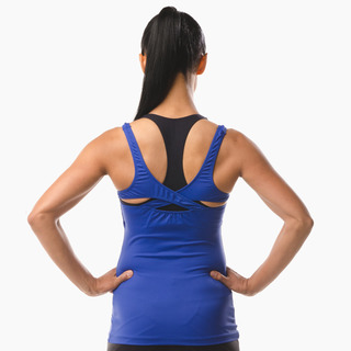 Erin Performance Vest Top Ultramarine Back