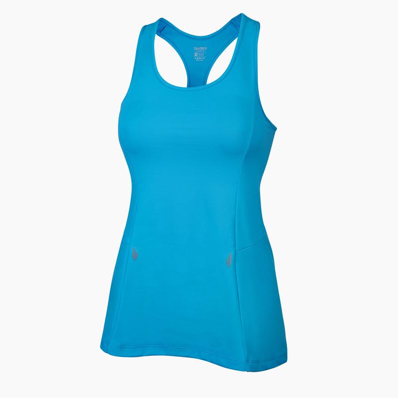Alana Aqua Blue Racer-back Fitness Vest