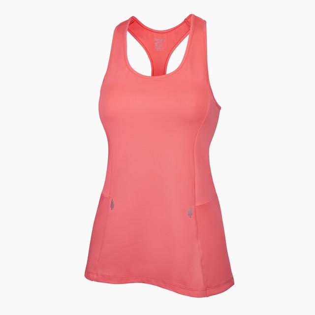 Alana Neon Coral Racer-back Fitness Vest